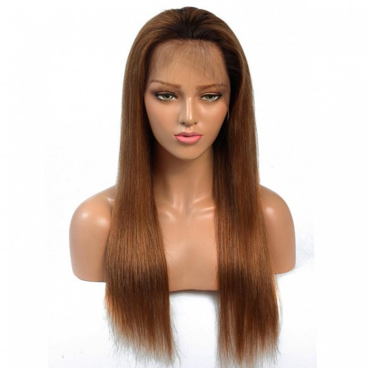 1B/30 Ombre Straight 13x4 lace frontal wigs virgin human hair with baby hair