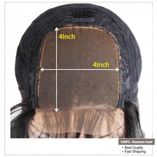1B/30 Ombre Straight 4x4 lace closure wigs virgin human hair with baby hair