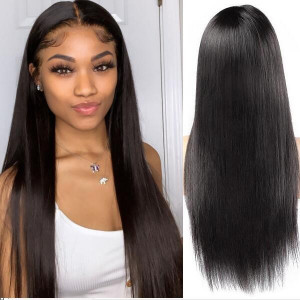360 frontal wig 150 density straight hair virgin human hair wigs