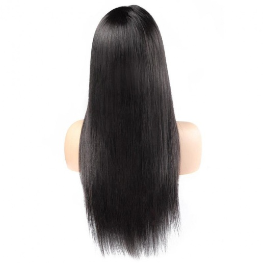 360 Lace Front Straight Human Hair Wigs Indian 360 Pre-Plucked Lace Frontal Wig