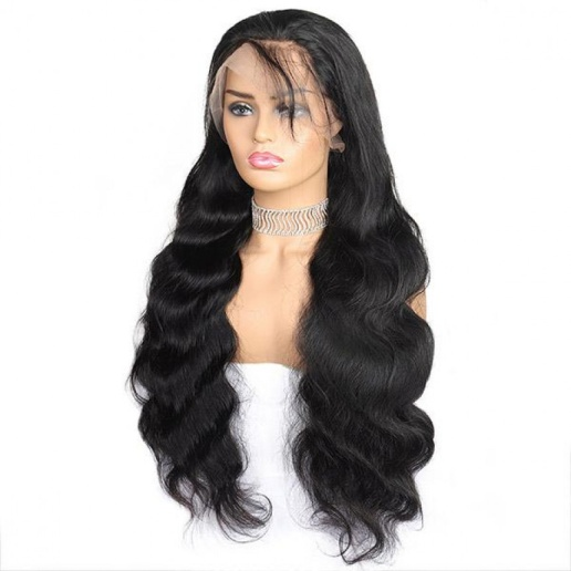 4x4 body wave lace closure wig 150 density malaysian virgin remy human hair wigs