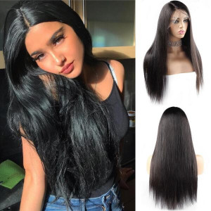 brazilian straight virgin remy hair 4x4 lace closure wig