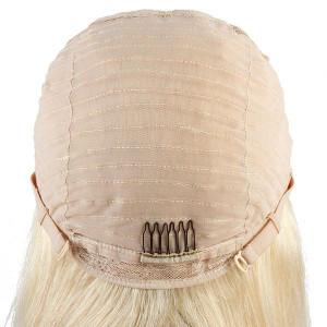 613 blonde 4x4 lace closure wig brazilian straight virgin human hair wigs