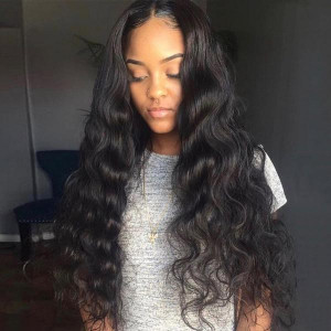 Body wave lace front wig virgin human hair wigs