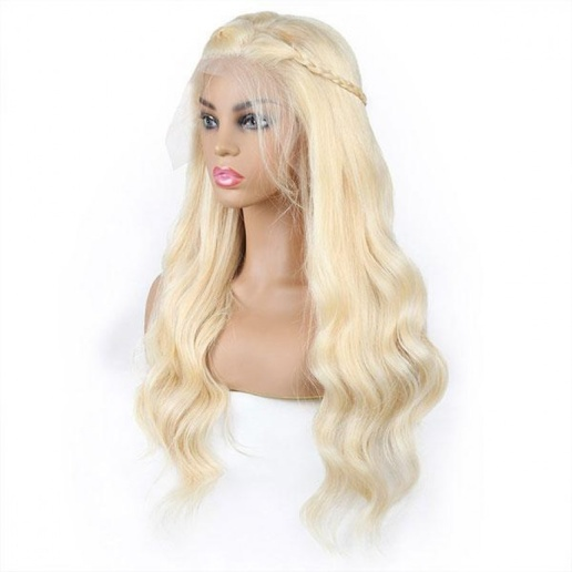 13X4 brazilian 613 lose boby wave lace frontal wig platinum blonde wigs