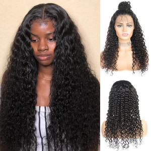Brazilian Deep Wave Hair Wigs 4x4 Lace Closure Human Hair Wig