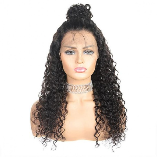Brazilian Deep Wave Hair Wigs 4x4 Lace Closure Human Hair Wig