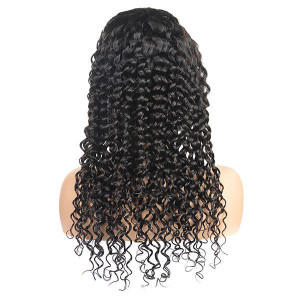 brazilian deep wave hair wigs cheap 4x4 lace closure human hair wig