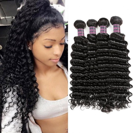 brazilian hair deep wave 4 bundles