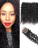 brazilian hair water wave 4 bundles with lace closure