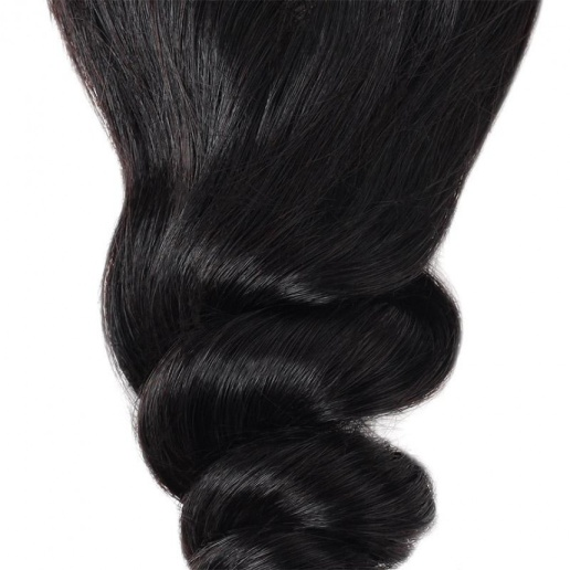 brazilian loose wave  virgin human hair weave 3 bundles with 2 4 lace closure with baby hair