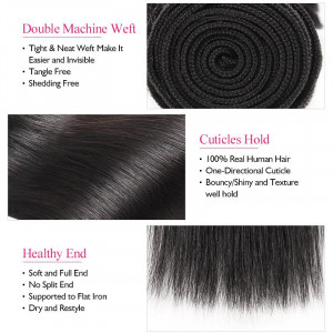 Brazilian Straight Hair Weave 4 Bundles Remy Human Hair Extensions