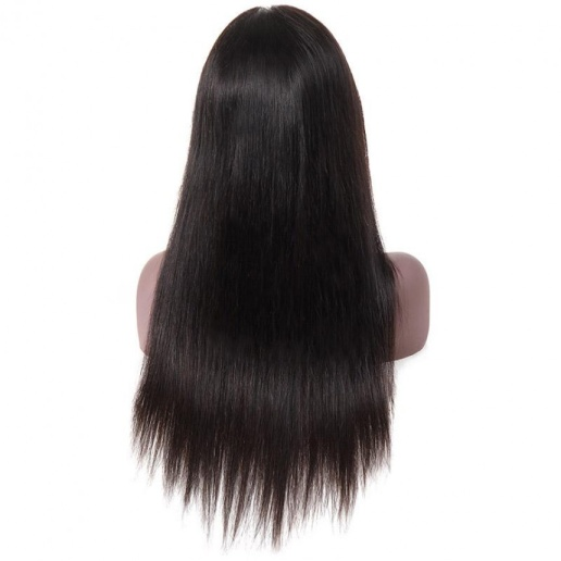 brazilian straight human hair lace front wig for black women
