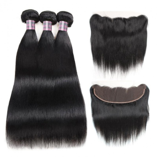 brazilian straight virgin hair weave 3 bundles with 13 4 lace frontal