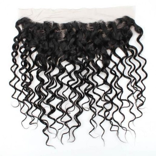 brazilian water wave 3 bundles with lace frontal closure weaves
