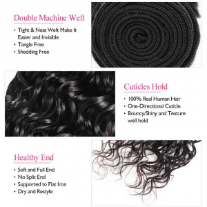 brazilian water wave remy human hair weave 4 bundles 100 unprocessed human hair extensions