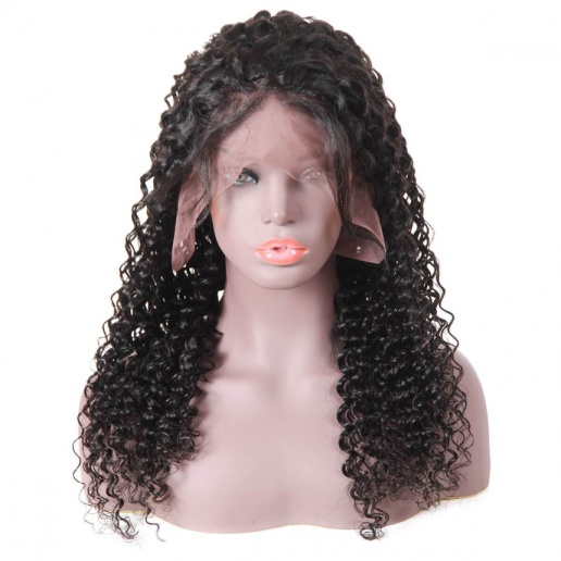 cheap  indian hair wigs deep curly hair lace front remy hair wig