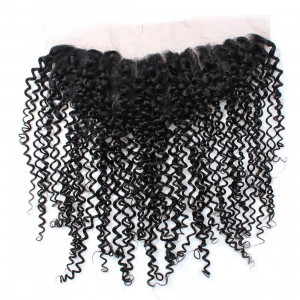 curly virgin remy human hair 13x4 ear to ear lace frontal with baby hair