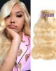 613 Blonde Color 3 Bundles Body Wave Virgin Brazilian Human Hair