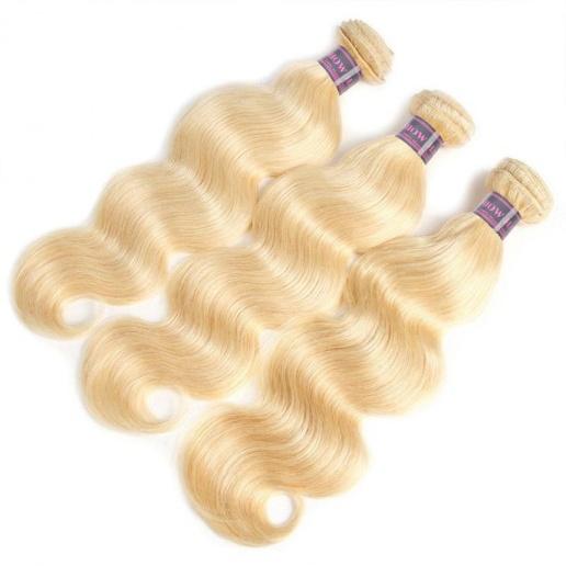 613 Blonde Color 3 Bundles brazilian body wave hairstyles