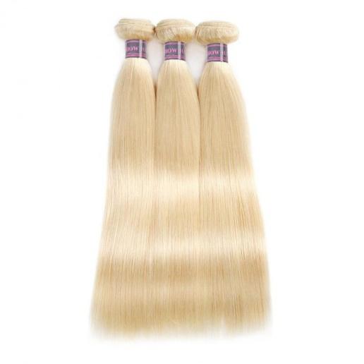 hair 613 blonde color straight hair 3 bundles brazilian virgin hair