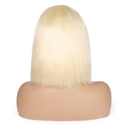 613 Blonde Lace Frontal Straight Bob Wig 100% Unprocessed Virgin Human Hair Short Wigs