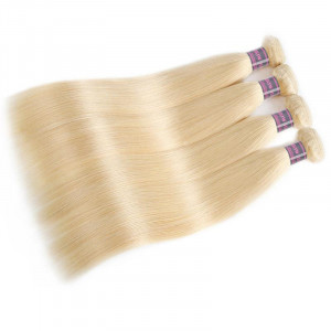 613 blonde straight hair 4 bundles virgin brazilian human hair