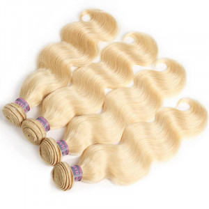 hair blonde body wave hair 4 bundles brazilian human hair
