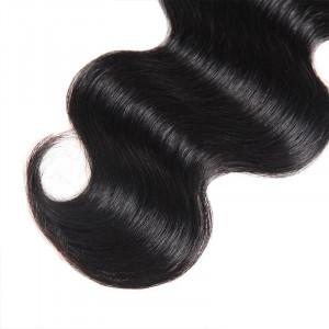 Virgin Brazilian Body Wave Hair 3 Bundles With 2*4 Lace Closure