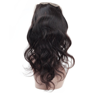 Virgin Brazilian Body Wave 360 Lace Frontal Closure