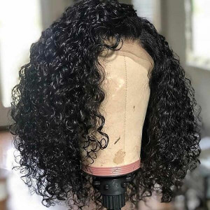 Short Bob Wig Brazilian Curly Virgin Human Hair Lace Front Wigs