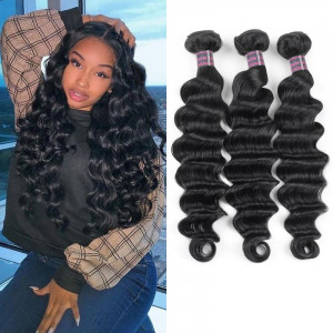 New Arrival Brazilian Loose Deep Wave Remy Human Hair 3 Bundles