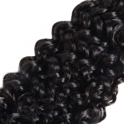 Curly Weave Human Hair Bundles Extensions Natural Color