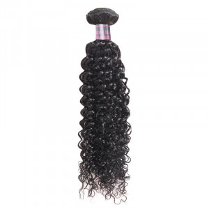 Curly Hairstyle Weave Human Hair Bundles Extensions Natural Color