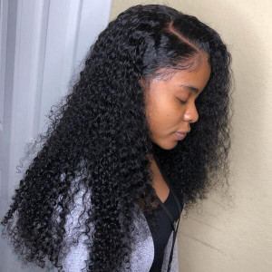 Long Curly Lace Front Wigs 100% Virgin Remy Human Hair Wigs