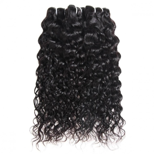 Indian Water Wave Human Hair 3 Bundles Remy Hair Weft