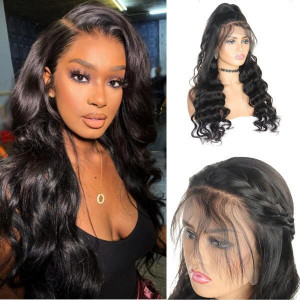 Lace Wig Brazilian Loose Wave 4x4 Lace Closure Virgin Remy human Hair Wigs