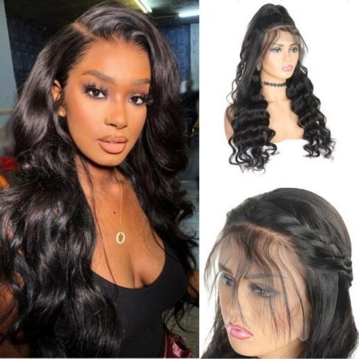 Loose Wave Brazilian Virgin Hair 4x4 Lace Closure Virgin Remy human Hair Wigs