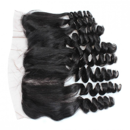 Loose Wave 13*4 Ear To Ear Lace Frontal Closure With Baby Hair Bleached Knots