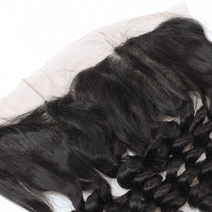 Loose Wave Ishow 13*4 Ear To Ear Lace Frontal Closure With Baby Hair Bleached Knots