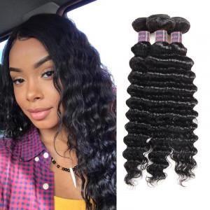 Virgin Malaysian Hair Styles Deep Wave Weave Hairstyles 3 Bundles