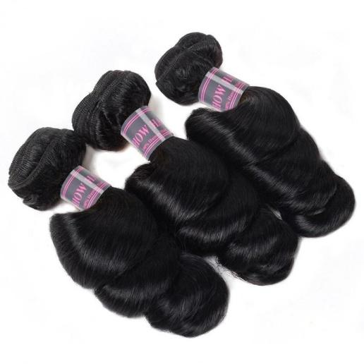 malaysian loose wave 3 bundles human hair extension