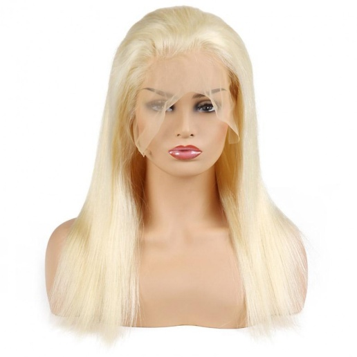 malaysian summer blonde 613 color lace frontal straight human hair wig