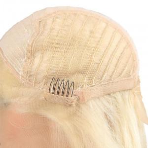 613 human hair wig malaysian summer blonde 613 color lace frontal straight human hair wig