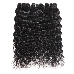100% Virgin Malaysian Human Hair Water Wave Human Hair 3 Bundles