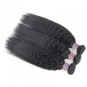 Human Hair Bundles of Weave Malaysian Yaki Straight Hair Extensions 3 Bundles Deal Remy Hair Weave Bundles
