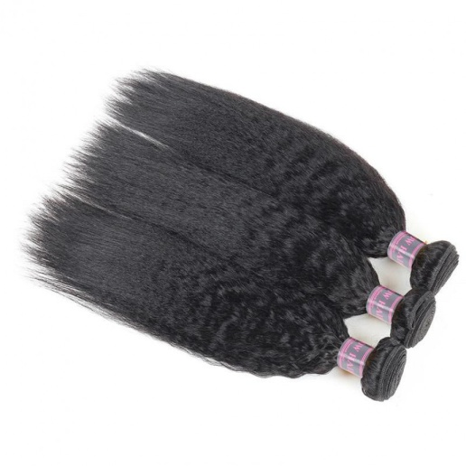 Human Hair Bundles of Weave Malaysian Yaki Straight Hair Extensions 3 Bundles Deal Remy Hair Weave Bundles