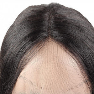 middle part brazilian remy black bob human hair wig