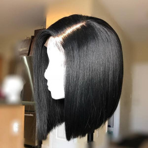 Peruvian Straight Remy Human Hair Short Cute Bob Wigs