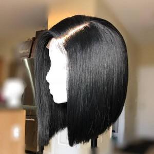 Peruvian Straight Remy Human Hair Short Bob Wigs